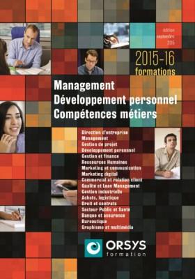 Couverture catalogue Orsys management devperso et metiers 2015-2016