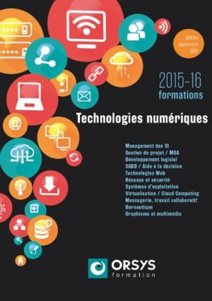 Couverture catalogue Orsys nouvelles technologies numeriques 2015-2016